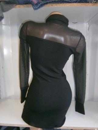 0016. Платье из трикотажа, в двух цветах - серый, черный...